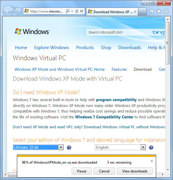 Using free windows xp mode as a vmware virtual machine next install the downloaded windows xp mode executable the installation wizard will give you a chance to specify where the files installed placing them ccuart Images