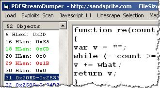 Analyzing Suspicious PDF Files With PDF Stream Dumper