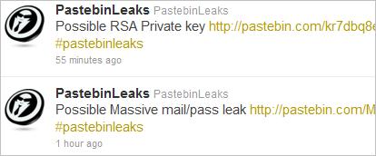 The Use of Pastebin for Sharing Stolen Data