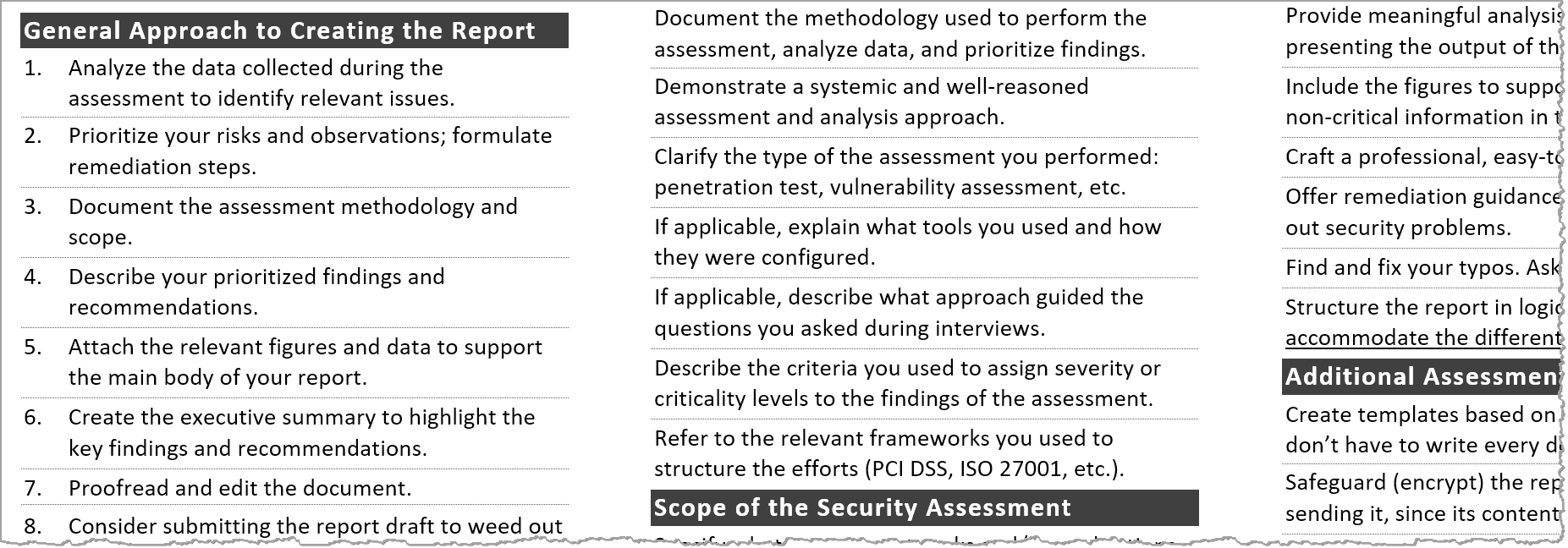Tips for Creating a Strong Cybersecurity Assessment Report