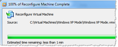 Using Free Windows XP Mode as a VMware Virtual Machine